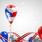 stock photo of balloon  - Flag of Puerto Rico on balloon - JPG