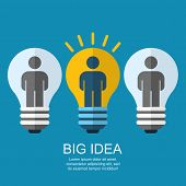 stock photo of socialism  - Creative light bulb with people business social strategy concept - JPG