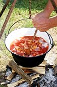 Hungarian Kettle To Make A Spicy Outdoor Soup poster