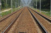 stock photo of train track  - The railway line - JPG
