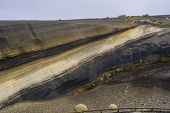 picture of stratus  - Layers of basalt and pyroclastic phonolite in La Negrita Teide National Park Tenerife Canary Islands - JPG