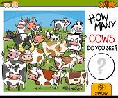 picture of numbers counting  - Cartoon Illustration of Education Counting Game for Preschool Children - JPG