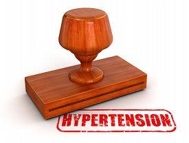 stock photo of hypertensive  - Rubber Stamp hypertension - JPG