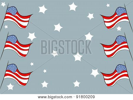 Flags against stars
