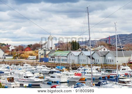 Rorvik, Norwegian Fishing Village Landscape