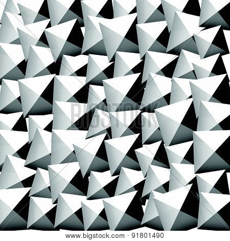 Pattern With Random Rotated Beveled Squares. Editable Vector.
