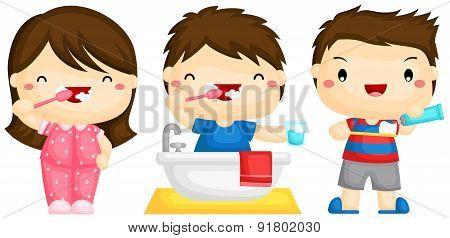 Kid brushing