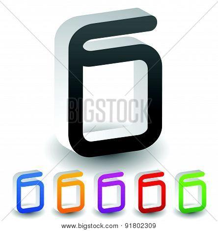 3D Book Symbol In Various Colors. Vector.