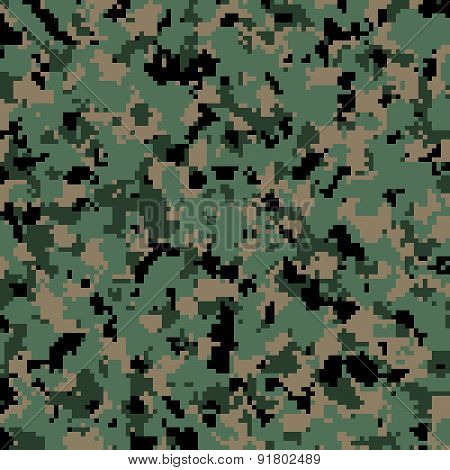 US Army digital camouflage pattern background