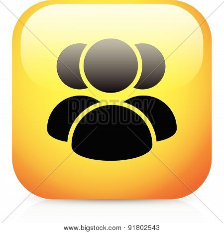 Group Of Three Person, Character Vector Icon.