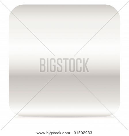 Rounded Square With Empty Space. Metal, Metallic Sheet, Plate.