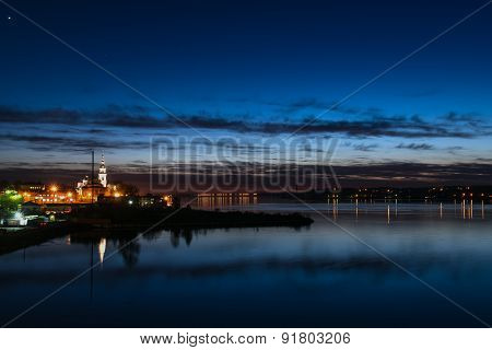 City Night Lights River