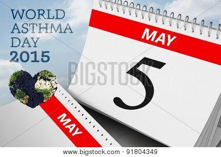 world asthma day against cloudy sky