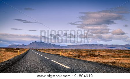 Scenic view from Highway No. 1 or Ring Road in Eastern Iceland