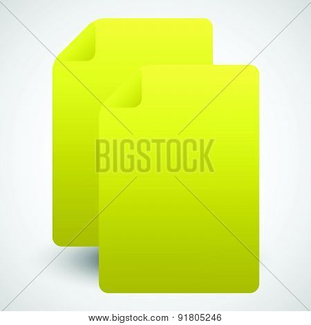 Graphics With Pair Of Dog Earred Pages Vector Illustration