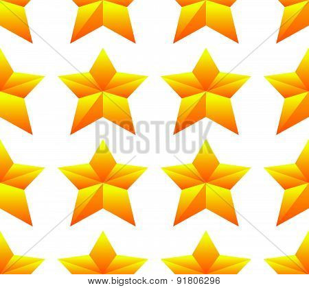 Gold Star pattern. Seamlessly repeatable. vector graphics