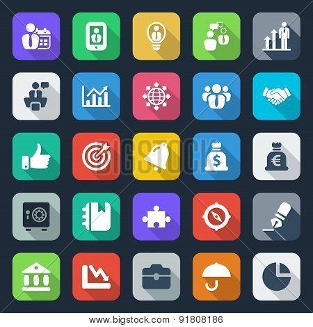 25 Flat Iconset Business