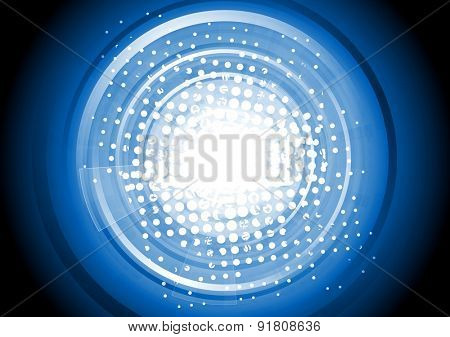 Abstract blue tech background. Vector design