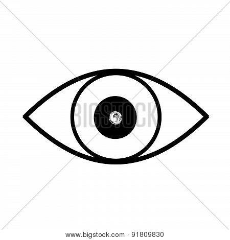 Eye Black And White Vector