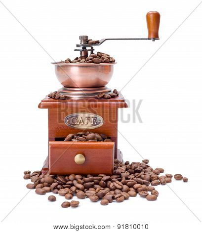 Old Fashioned Coffee Ginder With Beans
