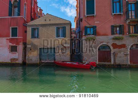 Red Gondola, Venice.
