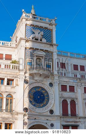 Astronomical clock in square San Marco, Venice.