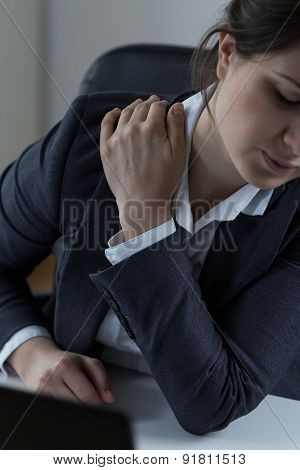 Office Worker With Arm Pain