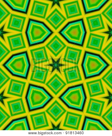 Yellow and green pattern