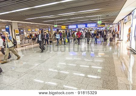 Passengers At The Departure Hall