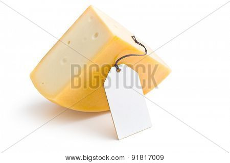 the edam cheese with label