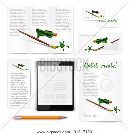 Classic white stationery template. Documentation for business.