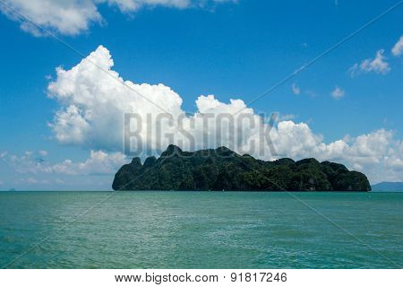 rock island in the Andaman Sea