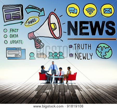 News Broadcast Information Media Publication Concept