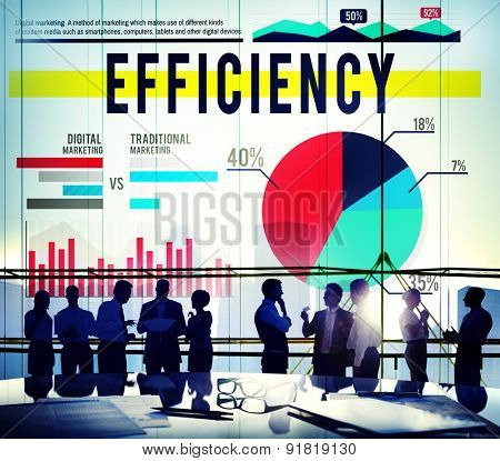 Efficiency Strategy Productivity Business Marketing Concept