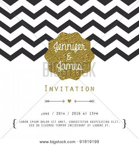 Modern card, for invitation or announcement