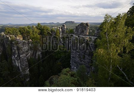 Bastei Bridge, Saxon Switzerland National Park