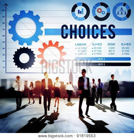 Choices Choosing Decision Direction Selection Concept