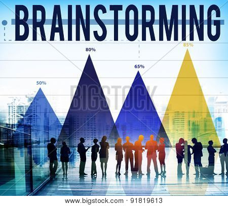 Brainstormming Thinking Planning Sharing Strategy Concept