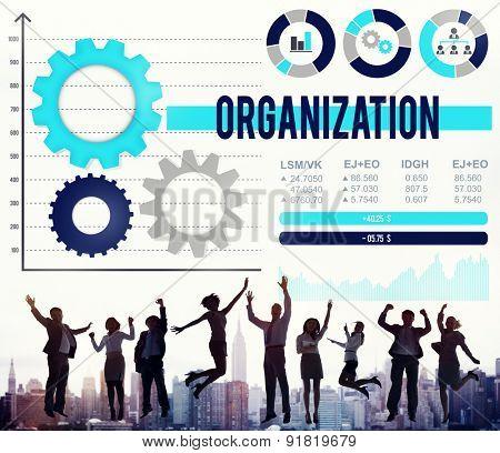 Organization Business Management Productivity Concept