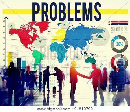 Problems Challenge Solution Solving Trouble Concept