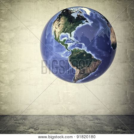 worry man and floating world Elements of this image furnished by NASA