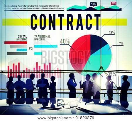 Contract Agreement Strategy Marketing Business Concept