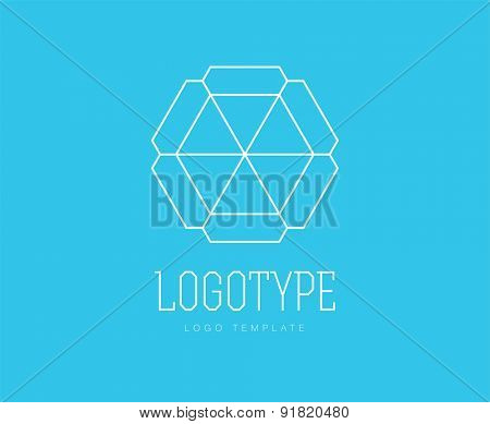 Abstract vector logo design elements. Arrows, labels, symbols. Vector illustration