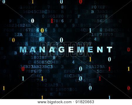 Finance concept: Management on Digital background