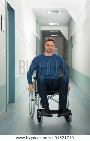 Portrait Of A Disabled Man