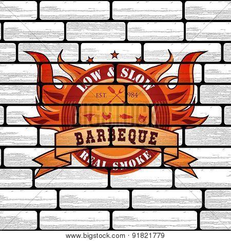 Vintage Premium Barbecue BBQ Graphic logo