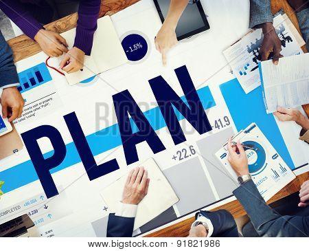 Plan Planning Development Business Strategy Concept