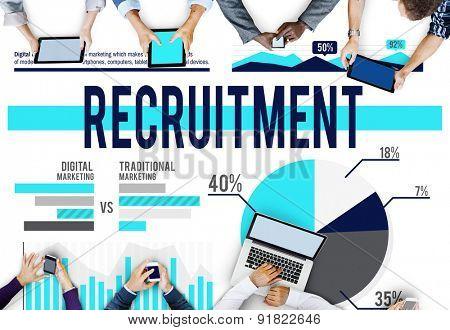 Recruitment Job Hiring Strategy Concept