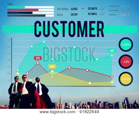 Customer Target Marketing Business Strategy Concept