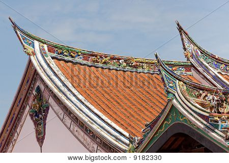 Buddhism Temple Roof